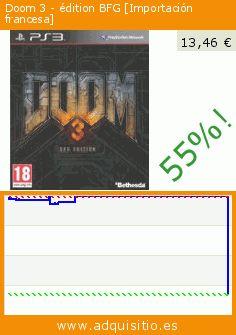 Doom 3 - édition BFG [Importación francesa] (Videojuegos). Baja 55%! Precio actual 13,46 €, el precio anterior fue de 29,77 €. http://www.adquisitio.es/bethesda/doom-3-%C3%A9dition-bfg
