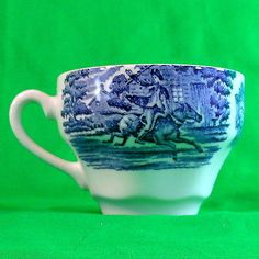 Liberty Blue Staffordshire England Blue White VINTAGE TEA CUP Replacement ENGLAN