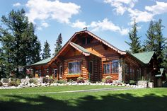 """Outlook Cabin - aka - """"The Royal Retreat."""" Originally built in 1930 this elegant cabin has welcomed King George VI and Queen Elizabeth in 1939 as well as Queen Elizabeth II and Prince Philip in 2005.  At 6000 sq ft & housing 6  bedrooms, this cabin is ideal for retreats and reunions."""