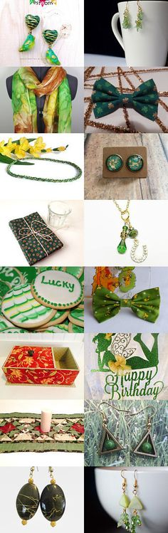 Green and Gold by Bess on Etsy--Pinned+with+TreasuryPin.com