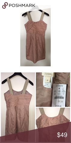 """NWT J.Crew Dress Brand new J.Crew Dress • Size 4 • Side zipper closure • 2 side pockets • Color is a Rose Pink. Length measures approx 28"""" J. Crew Dresses"""