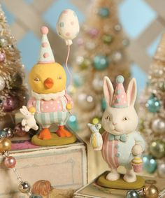Love this Easter Party Figurine Set by Bethany Lowe Designs on #zulily! #zulilyfinds