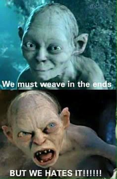 crochet gollum we must weave in the ends - Google Search