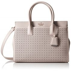 kate spade new york Cameron Street Perforated Candace Satchel Bag, Crisp Linen, One Size