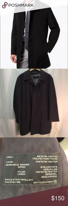 """Men's Kenneth Cole Jacket W Zip in/out Lining Kenneth Cole New York Men's Rain Jacket W Zip In/Out Lining  🔹Timeless Style - looks great with both a suit or jeans  🔹Great Condition   🔹2 Front Pockets  🔹Side vents  🔹Covered placket buttons in front  🔹Zip in/out lining  🔹Classic collar  🔹40"""" long  🔹Dry Clean only  no holes, snags or rips  5🌟 seller Fast shipper 📦 Only Reasonable Offers Replied To Kenneth Cole New York Jackets & Coats Trench Coats"""