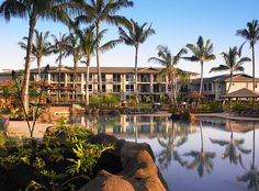 Treat yourself to four outdoor swimming pools, including two plunge pools and a children's pool with turtle fountains and a small water slide. #WestinPrinceville #Kauai