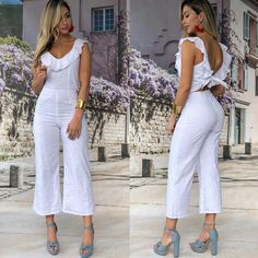 30 Outfits, White Suits, New Fashion, Womens Fashion, Little White Dresses, African Wear, Zen, Beautiful Outfits, Jumpsuit