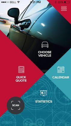 Finance app home screen simplified