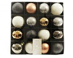 Unique head-turning Christmas decorations: baubles, garlands, candles, bells and calendars. Tasteful styles, hundreds of colours. Christmas Tree Ornaments, Christmas Decorations, Christmas 2016, Christmas Stuff, Xmas, Seasonal Decor, Nespresso, Grey And White, Champagne
