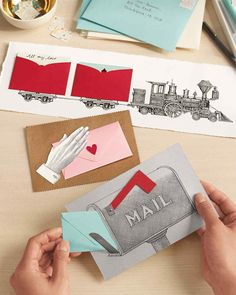 Log out of your email and revel in Valentine's Day the old-fashioned way: create eye-popping pop-ups. Pull a string, lift a tab, and watch hearts go all aflutter.