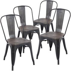 Set of 4 - Tolix Style Trattoria Side Chair