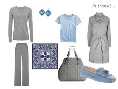 A Femme d'Un Certain Age: Business in London, In Grey  Blue
