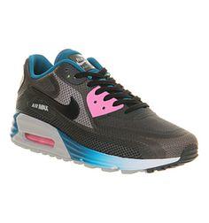 Nike Air Max 90 Lunar C3.0 Black Wolf Grey Blue - Hers trainers 2f94194c84