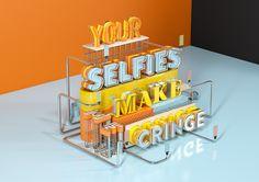 Your Selfies Make Me Cringe - Self Initiated CGI Illustration
