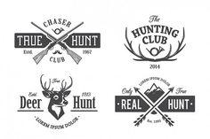 Vintage Hunting Emblems from DesignBundles.net