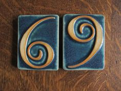 Pewabic Pottery House Numbers