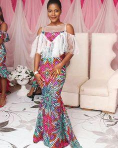 classy-ankara-styles-nigerian-wedding-cold-shoulder-longdress