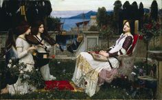 John Waterhouse's painting of St Cecilia.        [St Cecilia's Day - 22 November]