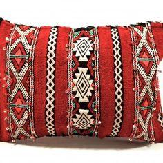 Moroccan Handwoven Wool Kilim Cushion