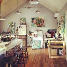 artist studio michelle allen designs. I love so much about this studio.