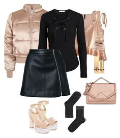 """#pufferjacket"" by pana-canaj ❤ liked on Polyvore featuring Topshop, Giuseppe Zanotti, Guild Prime, Monki, Andrea Fohrman, Repossi, Bea Bongiasca, Karl Lagerfeld, Yves Saint Laurent and pufferjacket"