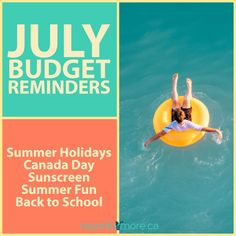 Checking your budget at the end of the month is just as important as setting it up at the start! Plus, check out these tips for July budget reminders! Helping Other People, Helping Others, Fund Accounting, Sinking Funds, Canada Holiday, Money Makeover, My Heart Hurts, One Dollar, Financial Goals