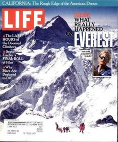 """Tragedy On Mt. Everest - Original Life Magazine from  August 1, 1996 issue  Visit http://www.oldlifemagazines.com/the-1990s/1996/august-01-1996-life-magazine.html to purchase this issue of Life Magazine. Enter """"pinterest"""" for a 12% discount - Tragedy On Mt. Everest"""