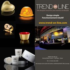 Discover new collections, new brands, even more products and good prices. The best deals are waiting you on http://trend-on-line.com/, the designer touch for your interiors & lifestyle.