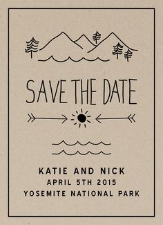 Camp Save The Date card by Daydream Prints on Postable.com