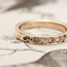 £750.00 equally beautiful champagne diamond band #wedding #ring #bands