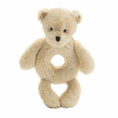 """Little Jellycat Bashful Bear Ring Rattle 6"""""""