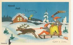 LISBET v. ESSEN Christmas postcard, postmarked 1933