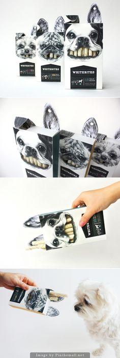 packaging de bocaditos para perro: Whitebites by Cecilia Uhr