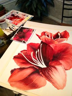 watercolor paintings of flowers   Watercolor Painting by Michelle East (Copywrite)