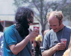 Jerry Garcia, Ken Kesey, Newport Pop Festival, 1968