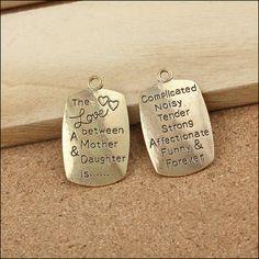 50pcs 34x20mm antique gold letter pendant charms by rosediy2015