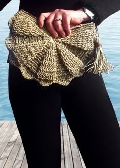 Natural raffia straw #seashell #fan clutchღ