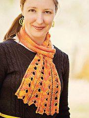 Knit - Flare Scarf knit pattern - #RAK0488