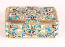 Antique  Russian  84 Silver Enamel Box/Case