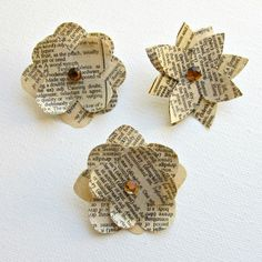 DIY Paper Flower Pins