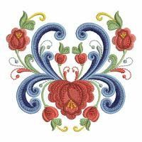 Rosemaling Roses from Ace Points - OregonPatchWorks.com