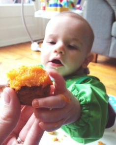 Savoury Lentil Cupcakes with Butternut Squash recipe for babies and toddlers - Baby Led Weaning