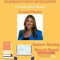Join us! Celebrity Reader at #MIHReadingRocks Party! RSVP: http://on.fb.me/1fgkp09 @McDonaldsHawaii @RamsaySunrise