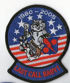 """VF-11 RED RIPPERS """"Last Call Baby"""" Tomcat 1980-2005"""