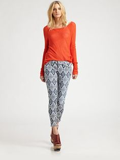 7 For All Mankind - The Printed Skinny Jeans - Saks.com