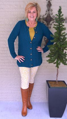 50 IS NOT OLD | BEST DEALS ARE ON CLEARANCE | Dark Teal | Cable Knit Cardigan | Quality and Style | Chadwick's of Boston | Fashion over 40 for the everyday woman #ad #affordablequality #chadwicksofboston #fashionover40