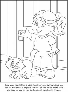 How To Care For Your Cat A Color Learn Guide Kids Dover Publications
