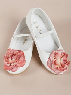 Flower Accented Girl Shoes  	(1 review)  Item# shoes_mg1987  Availability: Usually ships in 5-7 business days  Our Price: $23.75  Shoe Color::     Flower Color::     Size::     Size Chart  Qty:  Bookmark Page  Share Share on facebook Share on print  You May Also  Ballet Shoes with Ribbon  Ballet Shoes with Ribbon  Retail Price$29.99  Our Price: $21.50  Three Fuchsia Flowers Accented Girl Shoes  Three Fuchsia Flowers Accented Girl Shoes  Our Price$23.75  Gorgeous Olive Flowers Accented Shoes…