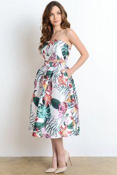 Hawaiian Print Dress Set $54.00 | Rabecca Onassis Boutique