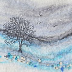 Lynn Comley, UpandDownDale - a textile felt artist based in the Peak District National Park. My website displays some example of my textile and mixed media artwork. Artist Inspiration, Textile Art Embroidery, Fabric Art, Art, Textile Artists, 2d Painting, Bird Art